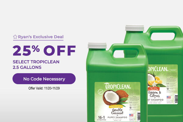 25% off all Tropiclean 2.5 Gallons No Code Necessary