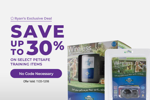 Save up to 30% on Select PetSafe Items - No Code Necessary