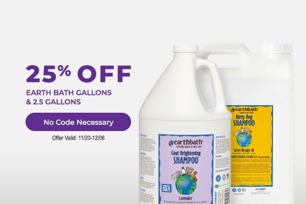 25% off Earth Bath Gallons & 2.5 Gallons No Code Necessary