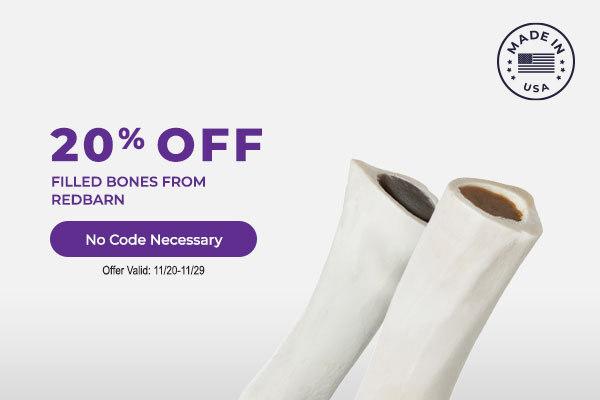 20% off Filled Bones from Redbarn - No Code Necessary