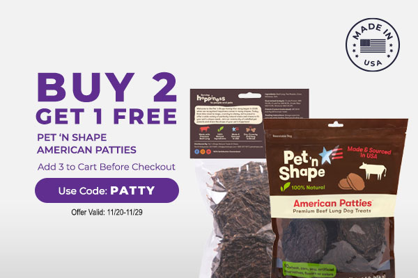 Buy 2 Get 1 Free Pet 'N Shape American Patties - Add 3 to cart and Use Code: PATTY