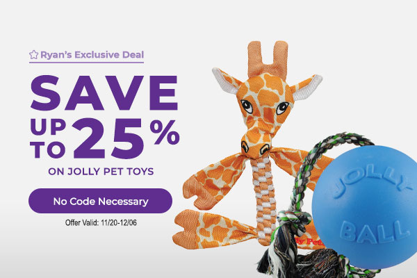 Save up to 25% on Jolly Pet Toys - No Code Necessary