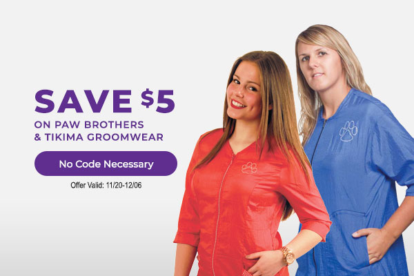 Save $5 on All Paw Brothers & Tikima